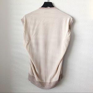 All Saints Sweaters - All Saints Alna Silk Tee Sleeveless Sweater Size M